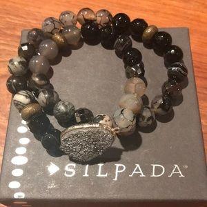 Silpada double wrap bracelet